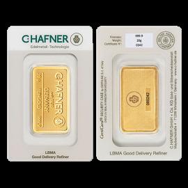 Lingote de oro C.HAFNER 1gr