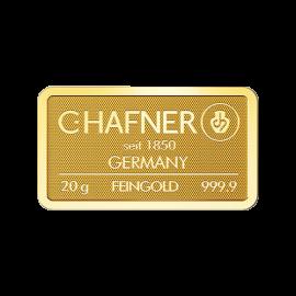 Lingote de oro C.HAFNER 2 grs