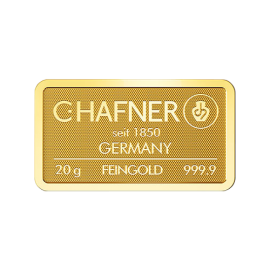Lingote de oro C.HAFNER 20 grs