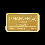 Lingote de oro C.HAFNER de 20 gramos
