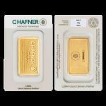 Lingote de oro C.HAFNER de 20 gramos en blister