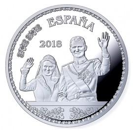 """8 reales """"Boda real con Su Alteza la Princesa Doña Letizia en 2004"""""""